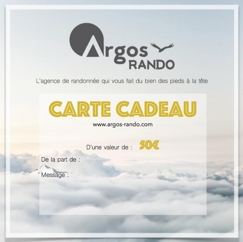 Carte Cadeau 50€ Argos rando