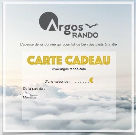Carte Cadeau Libre Argos Rando