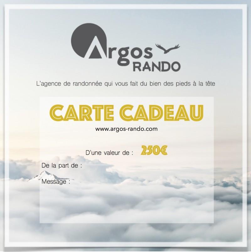 Carte Cadeau 250€ Argos Rando