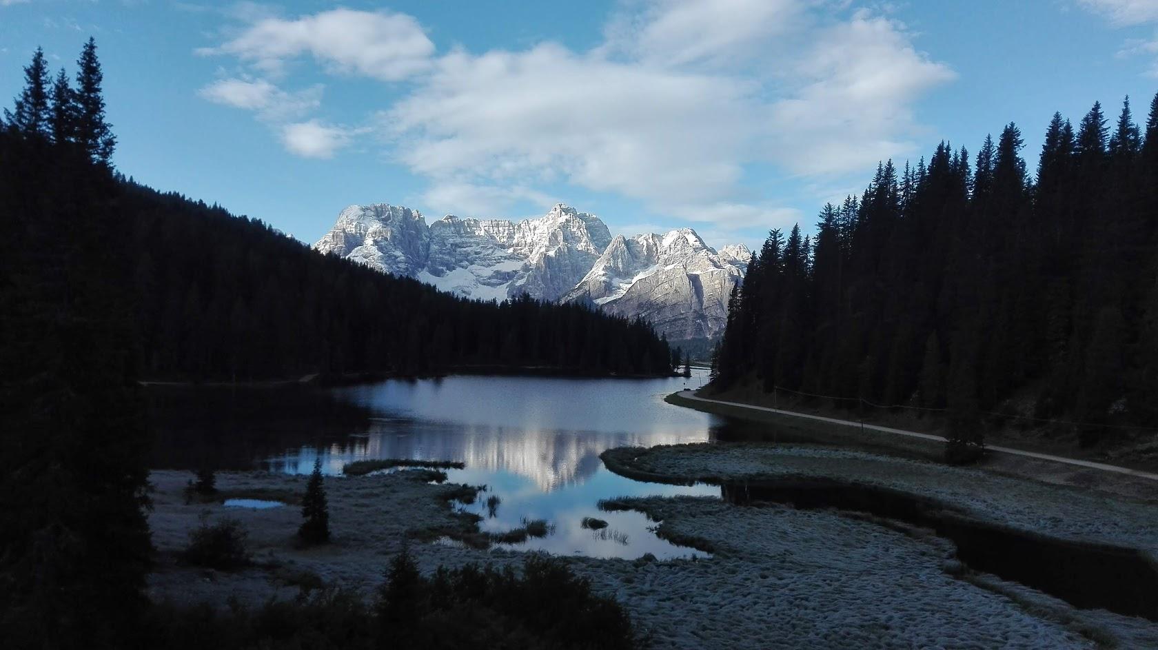 Les Dolomites (en étoile) au départ de Cortina d'Ampezzo et du Lac de Missurina